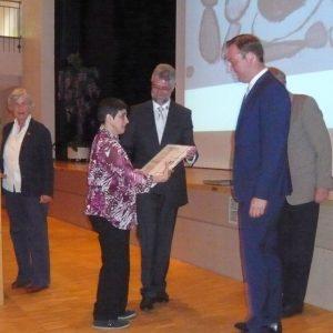 Efklia Grigoriadou erhält den Preis